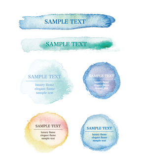 Watercolor handwritten frame set