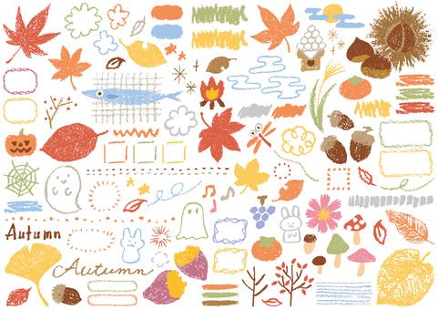 Crayon's hand-drawn <Autumn>