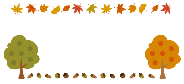 Fall decorative frame 27