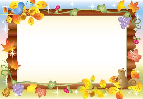 Autumn forest bulletin board