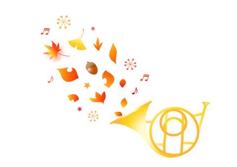 Illustration of autumn fairy tale