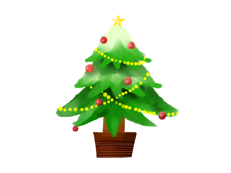 Christmas tree (white background)