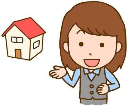 Woman clerk at home dealer