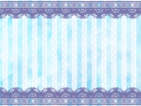 Watercolor stripe background with lace