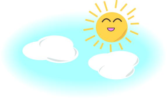 Weather sunny sky