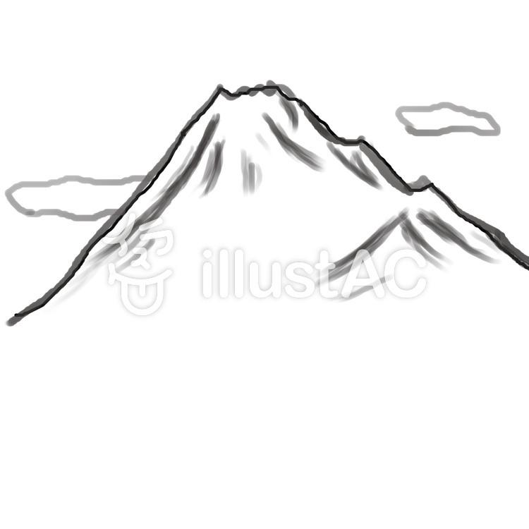 山と雲イラスト No 79053無料イラストならイラストac