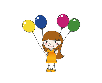 A girl with a balloon