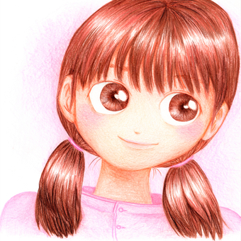 Colored pencil girl 5