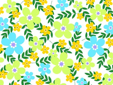 Scandinavian style flower background material 02 / blue c