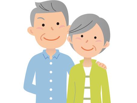 60425. Senior couple, upper body