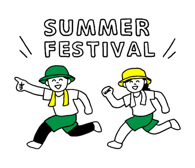 Person going to summer festival (simple)