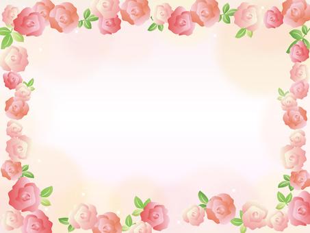 Roses frame decorative frame flowers