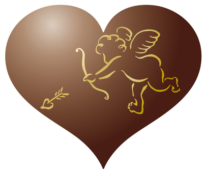 Cupid Gold - Painting - Heart