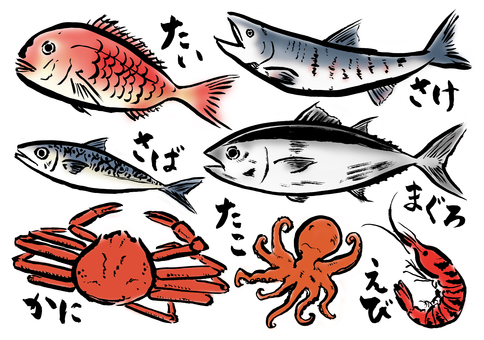 寫魚各種顏色
