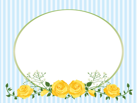 Father's Day roses garland decoration card yellow 05