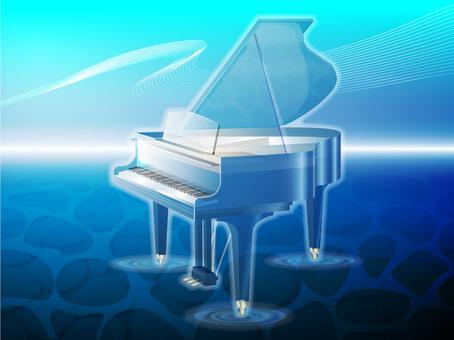 Grand piano (Aqua)