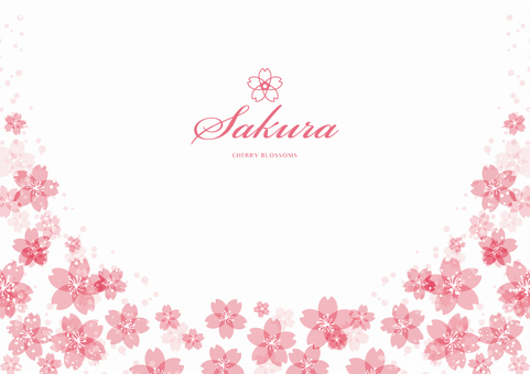 Spring background frame 005 Sakura White