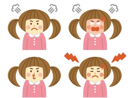Angry girl set