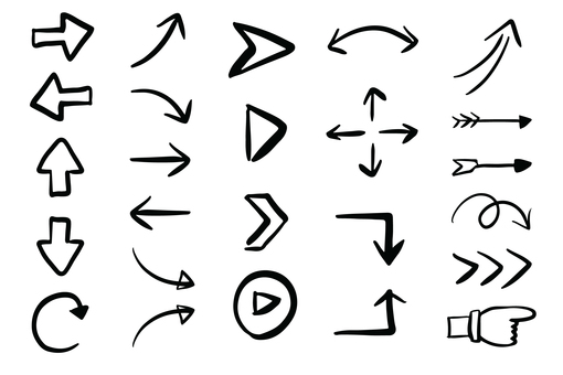Can be used! Handwritten wind arrow set