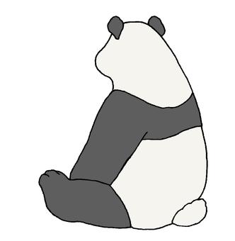 Behind the panda