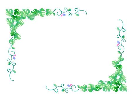 Monstera frame ★ 0197-E