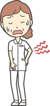 Middle-aged women nurse white coat-196-whole body