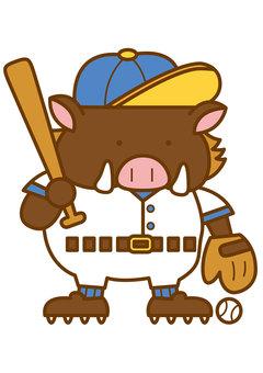 Wild Boar Baseball 4c