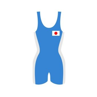Wrestling wear blue