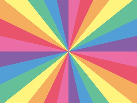 7色放射線状背景