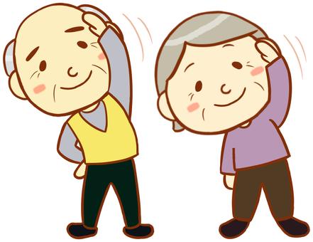 Elderly men and elderly women (gymnastics)