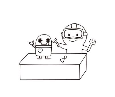 로봇 수리 기계를 치료 ゆるぼ ~