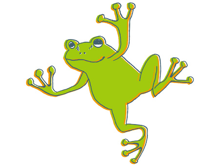 Flying flying frog