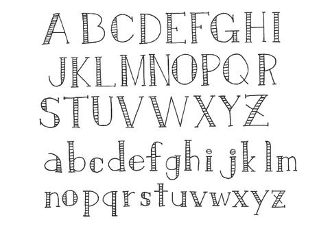 文字-アルファベット3(チャコール
