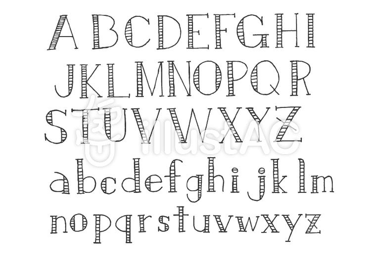 文字-アルファベット3(チャコールのイラスト