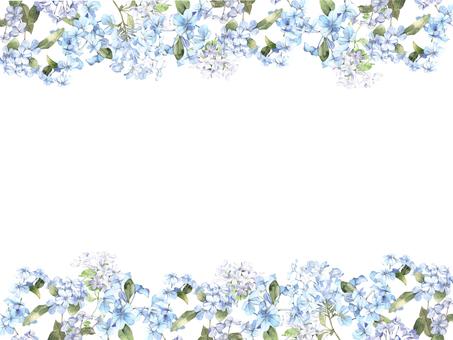 꽃 테두리 417 루리마쯔리 꽃 프레임