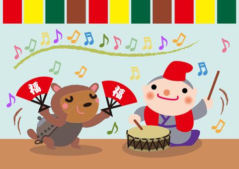Japanese folk tale _ Bumbu tea kettle 2