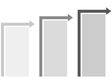 Chart (arrow / gray)