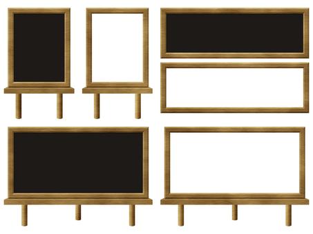 Easel board wooden blackboard photo frame brown