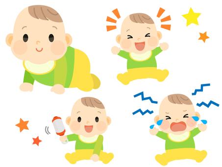 Baby hi-hai laugh cry play