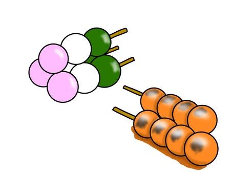 Dumplings are three-colored dumplings and dumplings