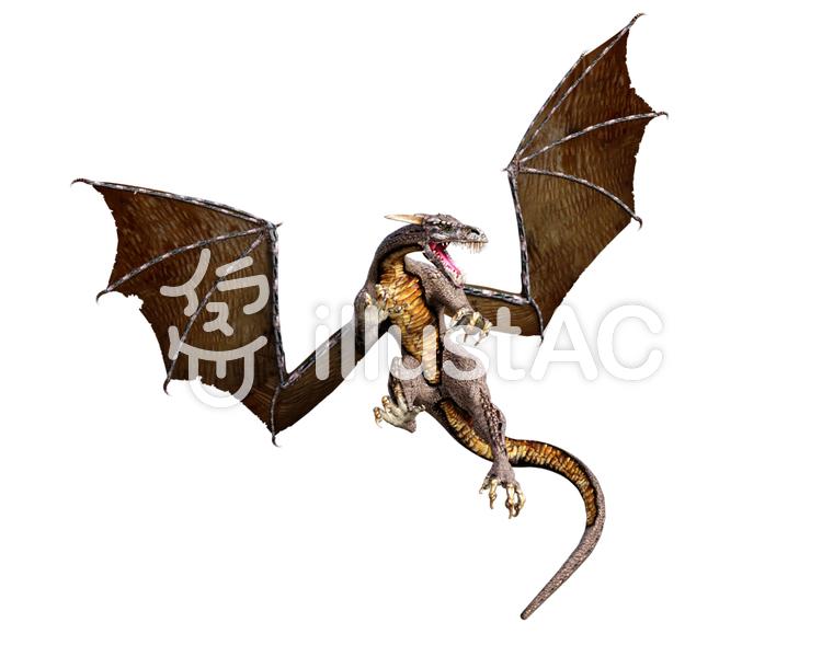 ドラゴンの攻撃のイラスト