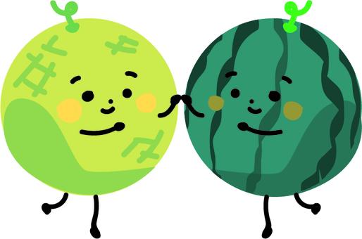 Watermelon and Melon (friendship set)