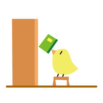 작은 새와 책장