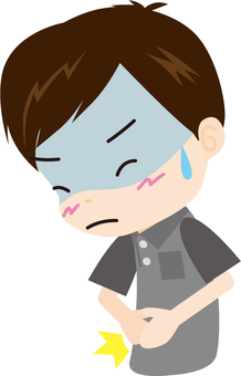 Abdominal pain (male)