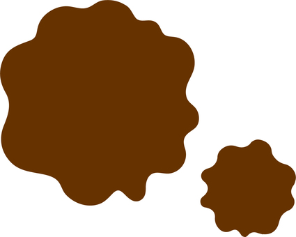 Two dark brown coffee stains