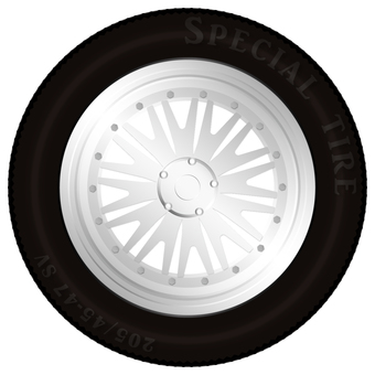 5 hole wheel & tire
