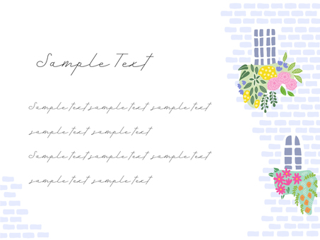 Flower postcard by the window 01