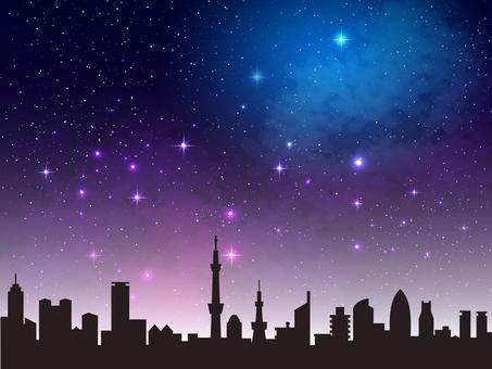 Night scene, night sky