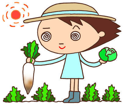 Elementary school character character · Agriculture experience