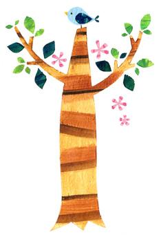 나무와 파랑새